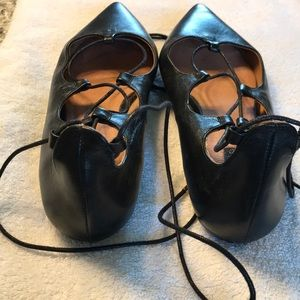 Topshop Shoes - Lace up pointed toe flats
